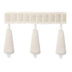Beaded Ivory Trim by Highland Court Fringe Trim, Valance Curtains, Ivory, Monogram, Fabric, Pattern, Coventry, Master Bedroom, Design