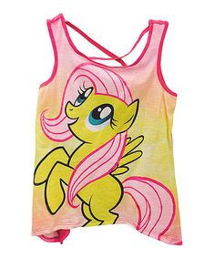 Another great find on #zulily! Hot Pink My Little Pony Sidetail Tank - Girls #zulilyfinds