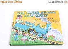 Sale on Books 50% Off - The Little Engine that Could - Watty Piper - Classic Children's Book - Vintage - Trains by ThePinkRoom