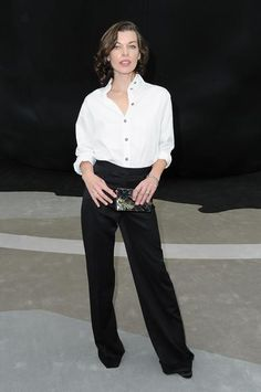 Chanel Fall/Winter 2013 Ready-to-Wear Fashion Show yesterday in Paris #MillaJovovich