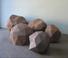Have no idea where I would put these geometric boulders BUT they are AWESOME!