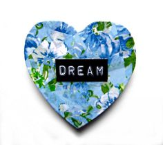Magnet Heart by TopFloorTreasures on Etsy, $4  #handmade #crafts #dream #blue #floral #gifts #christmas