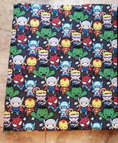 Super hero avengers baby blanket throw by KelseysKrazyKreation