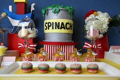 Popeye inspired birthday! I absolutely adore this!