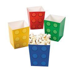 Color Brick Popcorn Boxes (24 Pack)
