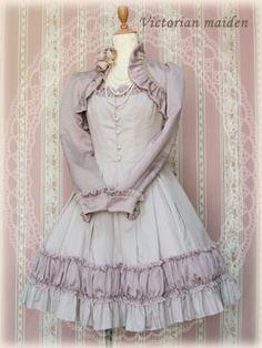 Victorian maiden dress with jacket.