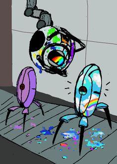 Portal 2, Portal Wheatley, Best Indie Games, Aperture Science, You Monster, Half Life, Cute Art, Videogames, Gaming