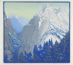 Stark Country - Color Block Print by Frances Gearhart