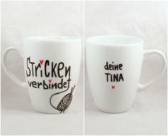 Tasse mit Spruch Tasse mit Name Tasse für Stricken von Lovely-Cups via dawanda.com
