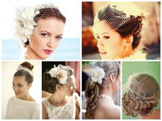 Wedding Hairstyles with a Birdcage Veil