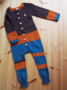 Hand knitted overall for my godson.