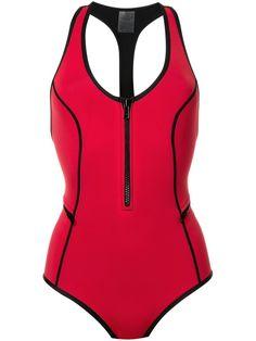 ¡Cómpralo ya!. Duskii Bañador oasis. Bañador Oasis en neopreno rojo escarlata de duskii con cuello redondo, espalda de nadador, cierre con cremallera en la parte delantera, costuras en contraste con diseño redondeado y talle alto y cobertura media. Este artículo debe ser probado sobre tus propias prendas. Talla: 12. Color: Rojo. Sexo: Mujer. Material: Neopreno. , bañador, bañadores, swimsuit, monokini, maillot, onepiece, one-piece, bathingsuit. Bañador  de mujer color rojo de DUSKII....