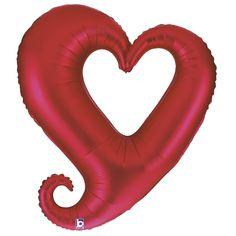 Folienballon in Herzform, ca. 90 cm Durchmesser.