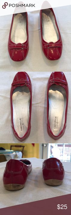 Red Michelle D shoes Cute red flats. Good condition. No box. Michelle D. Michelle D Shoes Flats & Loafers