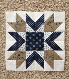 {Sisters and Quilters} blueberry pie block - no pattern