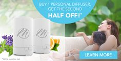 Buy One Mannatech Personal Essential Oils Diffuser, Get the Second at Half Price