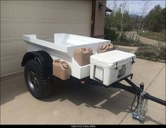 Mini Harbor Freight (type) Trailer Ultimate Build-Up Thread - Page 103 Bug Out Trailer, Kayak Trailer, Off Road Camper Trailer, Trailer Diy, Trailer Build, Camper Trailers, Homemade Trailer, Welding Trailer, Small Trailer