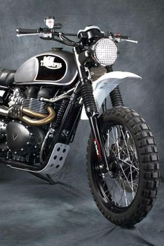 Another fantastic looking #Triumph scrambler using TKC 80s #motorcycle #motorbike