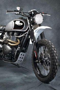 Another fantastic looking #Triumph scrambler using TKC 80s #motorcycle #motorbike
