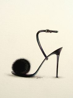 SHOE ILLUSTRATION :: Fancy Shoes - by Janis Viktoriia, via Behance