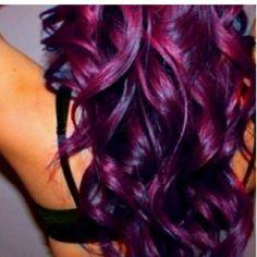 plum burgundy hair -
