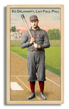 July 13, 1896...Ed Delahanty of Phildelphia hit four home runs in a game, being only the second player to do so (Bobby Lowe was the first in 1894), the only player ever to do so with four inside-the-park homers, and the first one to do so in a losing effort. (The Phillies lost the game, 9–8.)