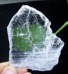 20g Super transparent SELENITE slab healing crystal rough rock China 1655 #UnbrandedGeneric