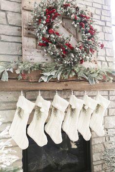 Farmhouse Christmas Stockings-Beautiful Homes of Instagram@NC_HomeDesign