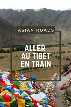 Tous nos conseils et toutes les informations à connaître concernant les voyages en train pour le Tibet ! Le Tibet, Destinations, Roads, Beach Mat, Outdoor Blanket, Train Trip, Tips, Travel, Road Routes
