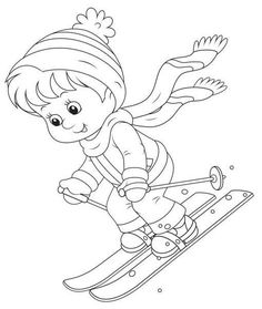JOCURILE COPIILOR IARNA - Planse de colorat - IMAGINI | Fise de lucru - gradinita Coloring Pages Winter, Sports Coloring Pages, Coloring Pages For Boys, Colouring Pages, Coloring Sheets, Coloring Books, Art Drawings For Kids, Outline Drawings, Christmas Colors