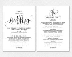 free wedding program templates pinterest program template