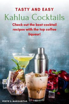 Kahlua is a coffee liqueur that features in some famous cocktails such as the White Russia. Here's a few of the best Kahlua cocktails to enjoy including simple Kahlua drinks with coffee as well as a little about the spirit itself Famous Cocktails, Easy Cocktails, Coffee Cocktails, Vodka Cocktails, Martinis, Best Cocktail Recipes, Sangria Recipes, Drink Recipes, What Is Kahlua