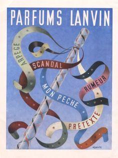 Lanvin parfums 1943 Rumeur Arpege Mon Peché Scandal Pretexte Aljanvic  Aljanvic Laszlo FIRCSA, 1904, École franco-hongroise