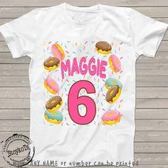 35216f25e755 Donut birthday shirt, Donut party Shirt, t-shirt for girls, customized  birthday