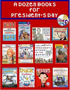 Blog post with some great books you can use for President's Day. You'll love these!