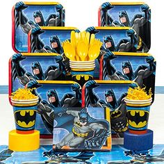[Batman Birthday Party] Costume Supercenter BBKIT795 Batman Birthday Party Deluxe Tableware Kit * For more information, visit image link. (This is an affiliate link) #BatmanBirthdayParty