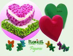 Figuras en #espumafloral y también en gama de 9 colores!!! Por supuesto, productos #FLORICEL de innovación. #Florists