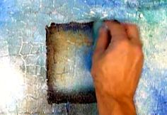 Abstract Art Modern Painting Techniques by Peter Dranitsin: Using Crackle Paste Medium to Create Special Acrylic Abstract Art Effects on Canvas.