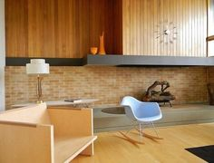 Mcm open fireplace. Not practical for us, but very cool.