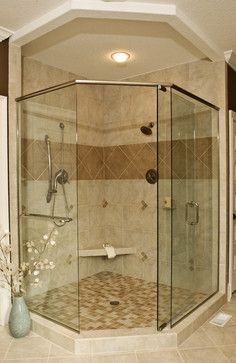 Corner Shower Design Ideas, Pictures, Remodel, and Decor - page 6