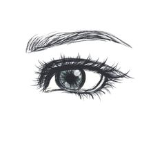 A neat rectangle shaped eye that's feminine and not male.