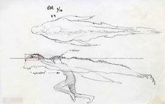 https://flic.kr/p/yyuLr4 | Dagobah creature concept art by Ralph McQuarrie, November 1978