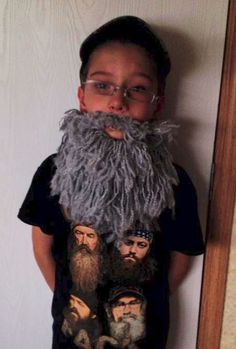 "Original pinner said, ""Landon's Beard Free Crochet Pattern"
