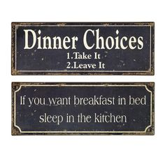 Two-piece typographic wall plaque set.       Product: 2 Piece wall decor setConstruction Material: TinColo...