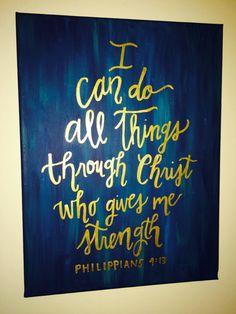 Bibel Vers/Schrift Kalligrafie Gemälde Ich vermag von Rspitko3