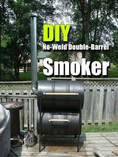 DIY No-Weld Double-Barrel Smoker