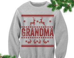 Grandma Ugly Sweater. Family Christmas Outfit. Ugly Christmas Sweater. Gift for Grandmother Unisex. S-3XL