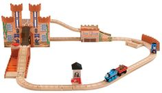 Fisher Price #Y4475 Thomas & Friends Wooden Railway - King of the Railway Deluxe Set