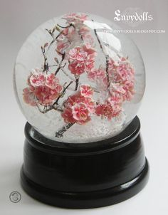 Japanese Cherry Blossom ( Sakura 桜 ) Snowglobe / Snowdome (LARGE version) Shinto Water Globes, Snow Globes, Girly Things, Cool Things To Buy, Diy Resin Art, Kawaii Room, Magical Jewelry, Cute Room Decor, Crystal Ball
