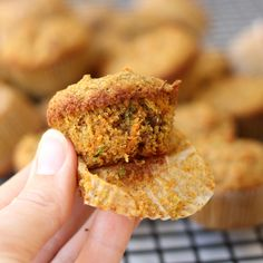 *Subbing brown rice with cassava flour Carrot Zucchini Toddler Muffins! Gluten-free, lightly sweet and full of hidden veggies. A delicious healthy toddler or kid snack! Healthy Toddler Snacks, Toddler Meals, Toddler Food, Toddler Nutrition, Kid Meals, Toddler Recipes, Food Dinners, Healthy Muffin Recipes, Baby Food Recipes